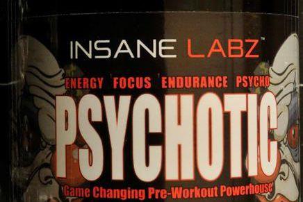 Le produitInsane Labz Psychotic, vendu chez Atomik Nutrition... (Photo tirée du site de Santé Canada)