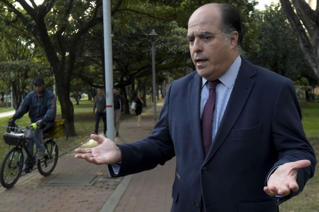 Le leader de l'opposition au président Nicolas Maduro,... (Photo Raul Arboleda, AFP)