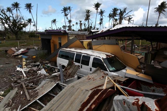 Près d'un an après l'impact particulièrement dévastateur du... (PHOTO Alvin Baez, ARCHIVES REUTERS)