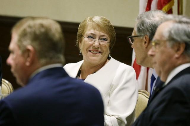 Michelle Bachelet, fille d'un général opposé au régime... (PHOTO Ted S. Warren, ARCHIVES AP)