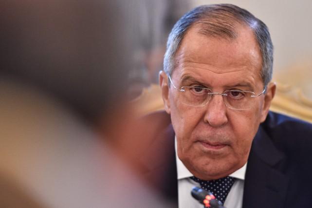 Le ministre russe des Affaires étrangères, Sergueï Lavrov... (PHOTO Vasily MAXIMOV, ARCHIVES AFP)