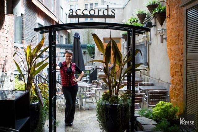 Le restaurant Accords resto bar, ouvert en 2010... (Photo Olivier PontBriand, Archives La Presse)