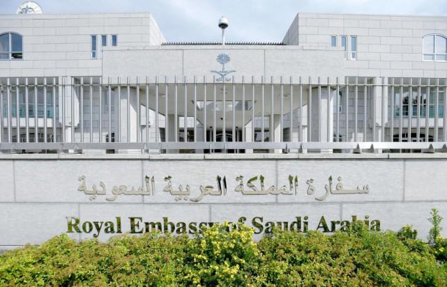 L'Ambassade de l'Arabie Saoudite à Ottawa.... (Photo Justin Tang, La Presse Canadienne)