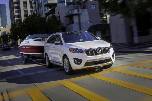 La capacité de touage du Kia Sorento à... (Photo Kia)