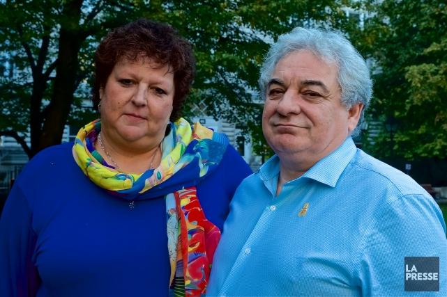 Les parents de Célmence Beaulieu-Patry, assassinée dans un... (Photo Andre Pichette, Archives La Presse)