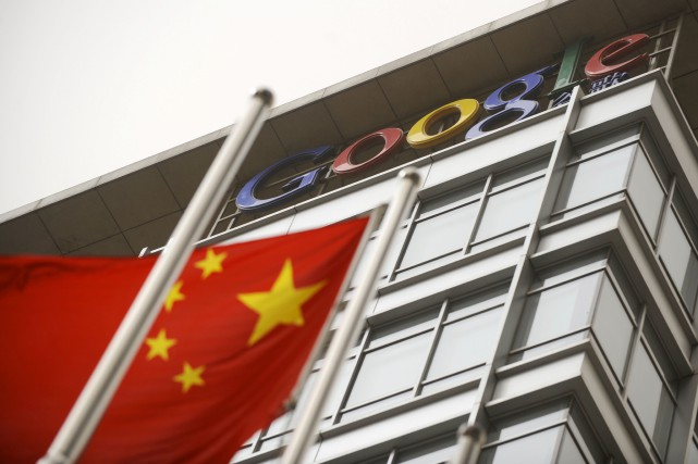 Des centaines d'employés de Google ont signé une... (Photo LIU JIN, Archives Agence France-Presse)