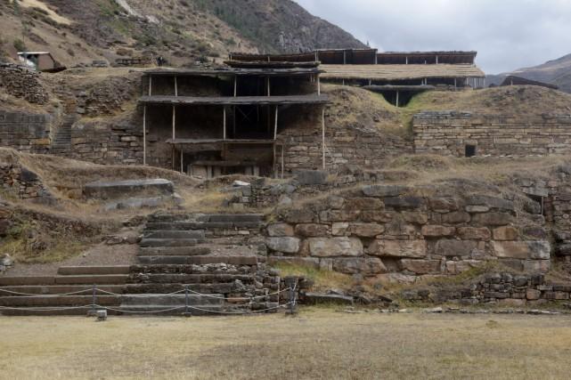 Le site archéologique Chavín de Huantar, où a... (PHOTO AFP, via Ministère péruvien de la Culture.)