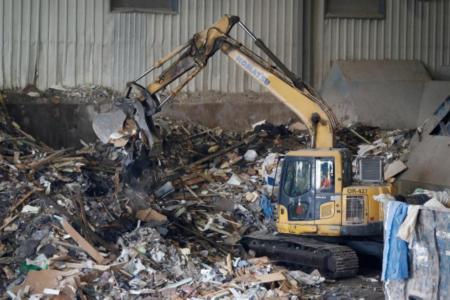 Les centres de tri ont perdu un débouché... (Photo Martin Chamberland, La Presse)