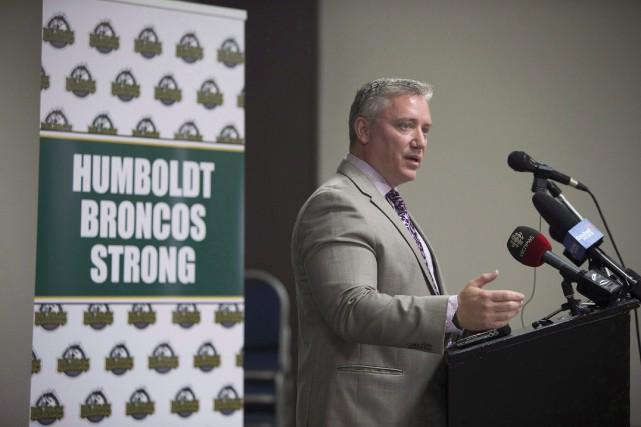 Le président des Broncos de Humboldt, Kevin Garinger.... (Photo Kayle Neis, archives PC)