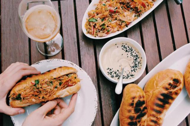 Le sandwich à l'asiatique de William J. Walter... (Photo Laurie Boisvert, fournie par William J. Walter)