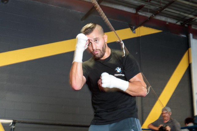 David Lemieux poursuit sa préparation en vue de... (Photo Hugo-Sébastien Aubert, La Presse)