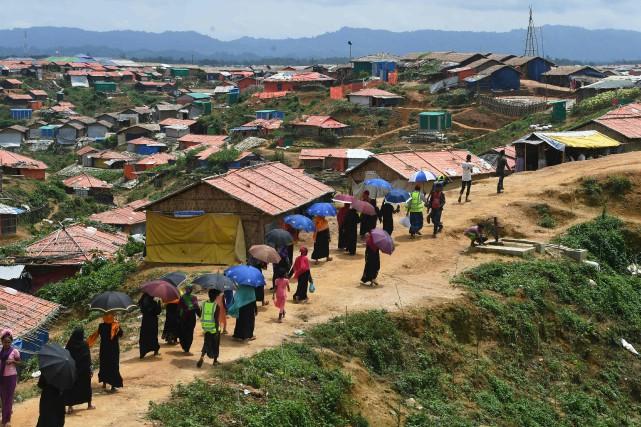 La plupart des habitants du camp ont été... (Photo Dibyangshu SARKAR, AFP)