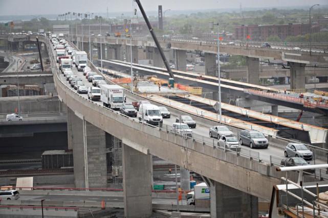 Les travaux de construction dans l'échangeur Turcot entraîneront... (Photo Patrick Sanfaçon, Archives La Presse)