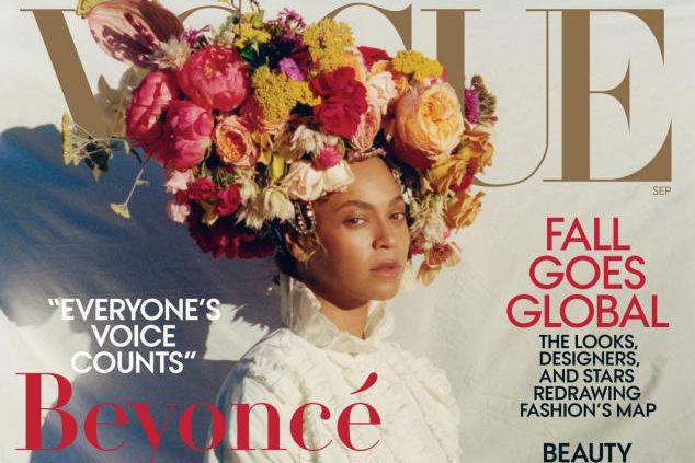 La chanteuse Beyoncé fait la couverture du numéro... (IMAGE FOURNIE PAR VOGUE)