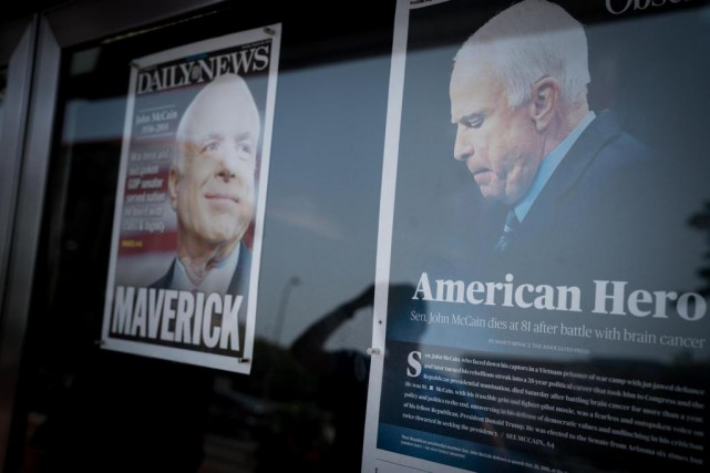 Le sénateur John McCain s'est éteint samedi dernier,... (PhotoErin Schaff,The New York Times)