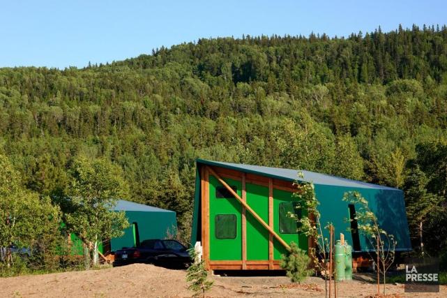 Parc national du bic un cube appel toile violaine for Hebergement parc du bic