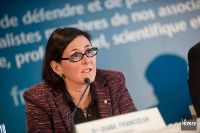 Diane Francoeur, présidente de la Fédération des médecins... (Photo Catherine Lefebvre, collaboration spéciale, archives La Presse)