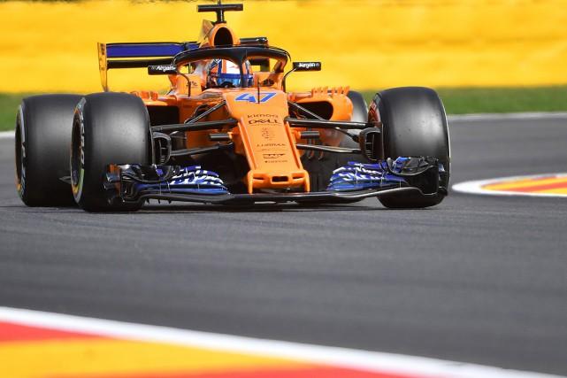 Lando Norris a testé la McLaren's sur le... (PHOTO EMMANUEL DUNAND, ARCHIVES  AGENCE FRANCE-PRESSE)