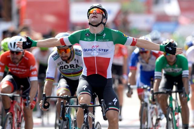 Elia Viviani... (Photo Miguel Riopa, AFP)
