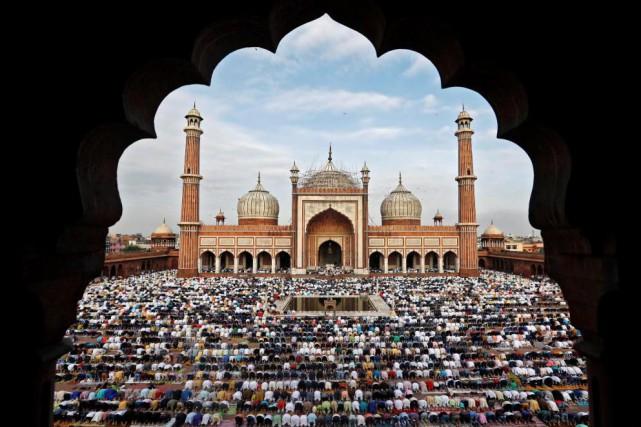 La grande mosquée de Delhi... (photoAdnan Abidi, reuters)