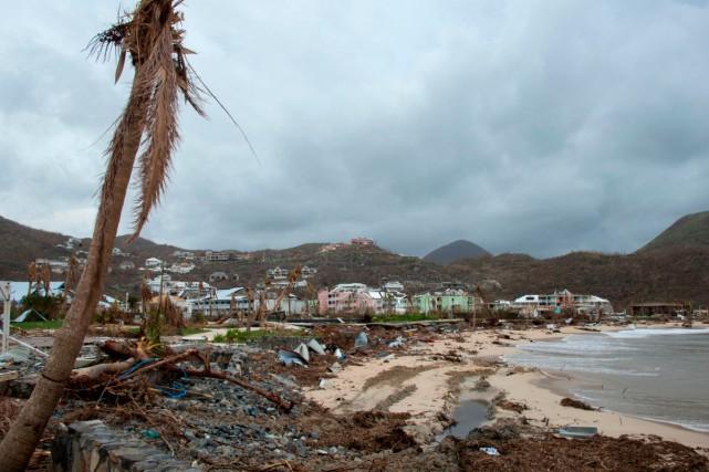Une scène de désolation à Saint-Martin après le... (Photo archives AFP)