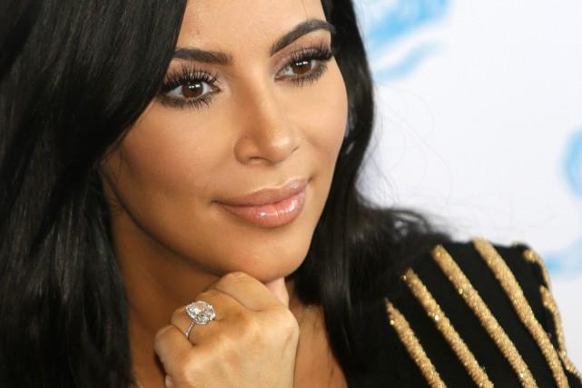 Kim Kardashian s'est de nouveau rendue mercredi à... (Photo archives AP)