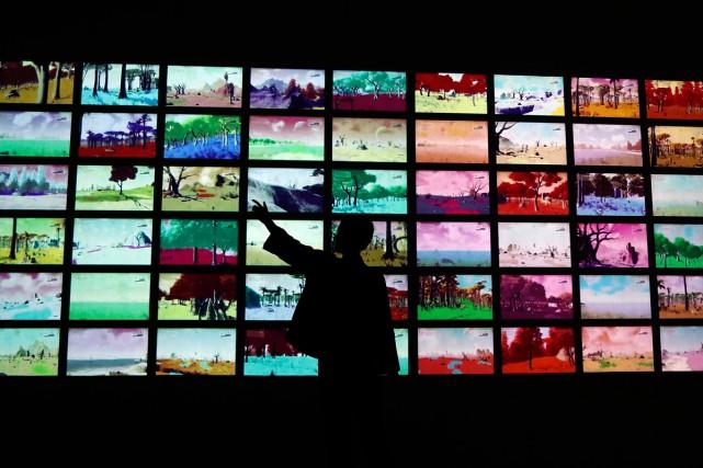Le jeu No Man's Sky est exposé auVictoria... (Photo AP)