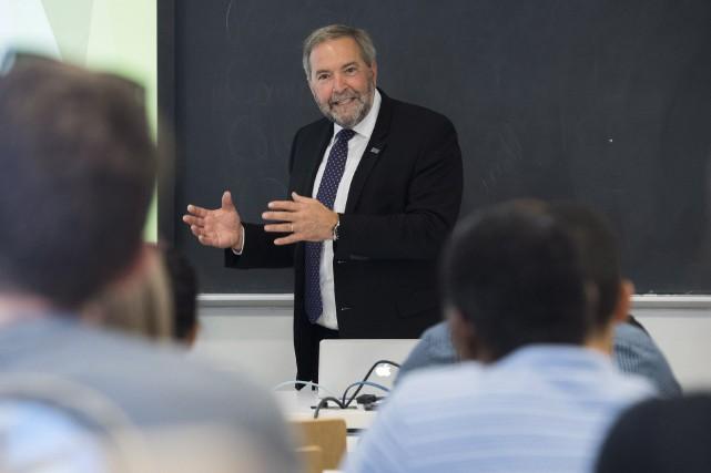 ThomasMulcair, qui a abandonné son siège de député... (Photo Graham Hugues, La Presse canadienne)