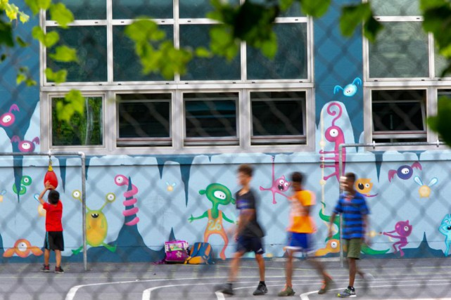 À la Commission scolaire de Montréal, et ailleurs... (Photo David Boily, La Presse)
