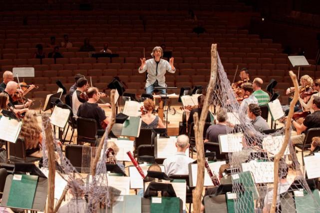 Répétition deChaakapesh à la Maison symphonique... (Photo Hugo-Sébastien Aubert, La Presse)