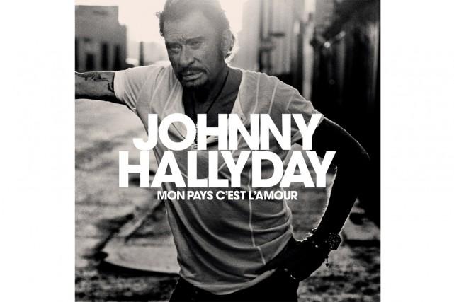 Une photo en noir et blanc montrant Johnny,... (Photo tirée de Twitter)