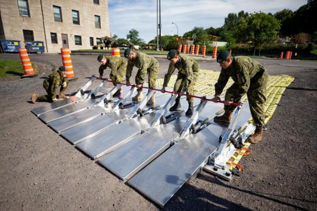 Les Forces armées canadiennes et quatre pays alliés... (Photo David Boily, La Presse)