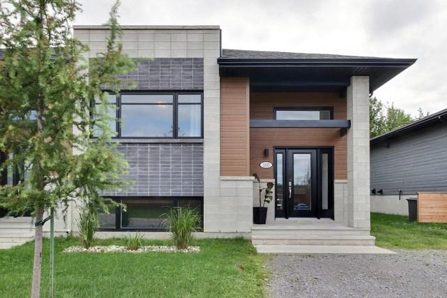 Cette maison jumelée de Trois-Rivières, construite en 2015, se situe à l'orée... (PHOTO FOURNIE PAR CENTRIS)