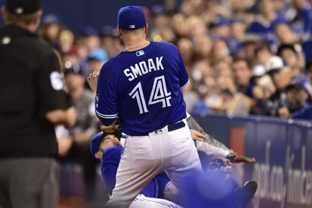 Justin Smoak a claqué un 24e circuit cette saison et les Blue Jays de Toronto... (PHOTO PC)
