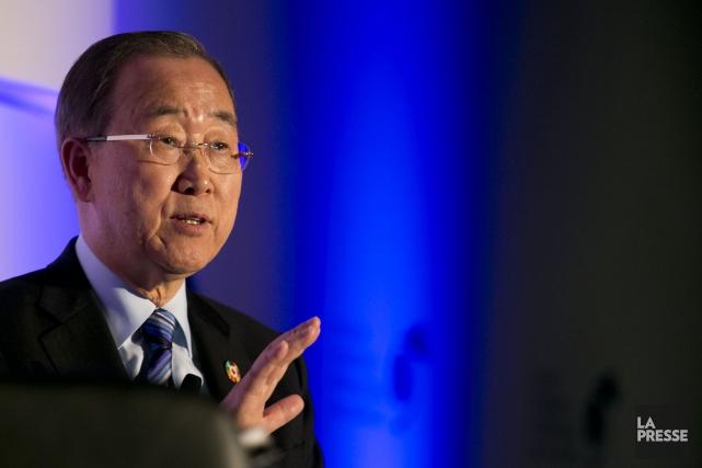 Ban Ki-Moon... (Photo François Roy, La Presse)