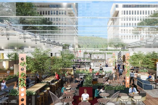 Image de l'esplanade de la Place Ville Marie... (Image fournie)
