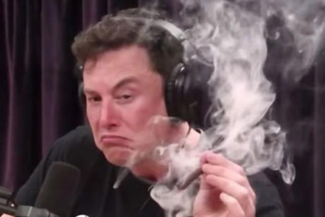 Elon Musk s'est fait offrir un joint par...