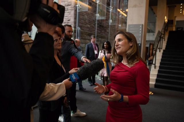 La ministre canadienne des Affaires étrangères, Chrystia Freeland.... (PHOTO PC)