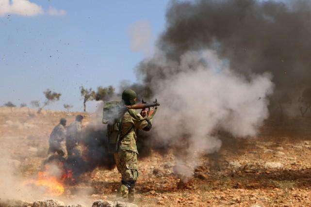 Plus de la moitié d'Idleb, province du nord-ouest... (AFP)