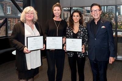 De gauche à droite: Barbara Wisnoski, Jessica Veevers,... (Photo : Pierre Longtin)