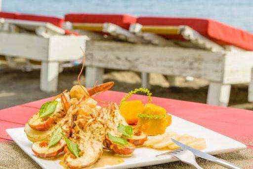 Un plat d'inspiration martiniquaise:crevettes et pétoncles dans une... (Photo Lionel Chamoiseau, fournie par Martinique Gourmande)