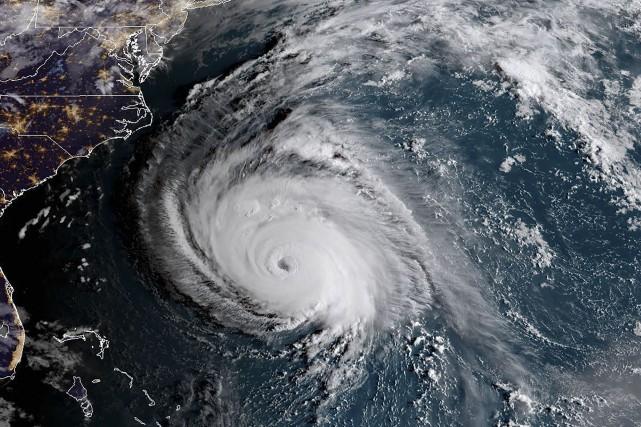 Cette photo satellite prise à 10 h ce... (photo AFP)