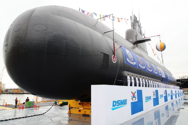 LeDosan Ahn Chang-hode 3000 tonnes, d'un coût de... (Photo Agence France-Presse)