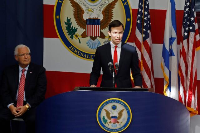 Jared Kushner a prononcé un discours lors de... (Photo MENAHEM KAHANA, archives Agence France-Presse)