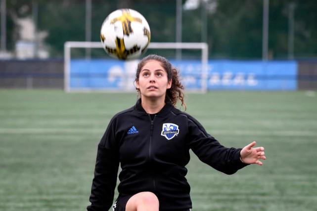 Montserrat Flores Maso, 26 ans, est récemment devenue... (Photo Bernard Brault, La Presse)