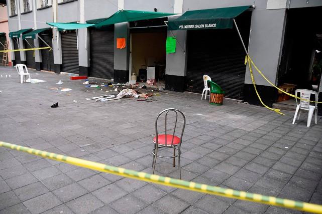 L'attaque a été menée sur la place Garibaldi,... (PHOTO ALFREDO ESTRELLA, AGENCE FRANCE-PRESSE)