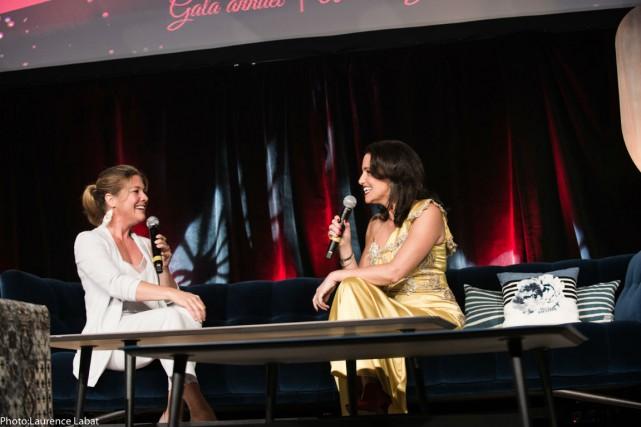 Sophie Gregoire Trudeau et Caroline Codsi.... (Photo fournie par la Gouvernance au Féminin)