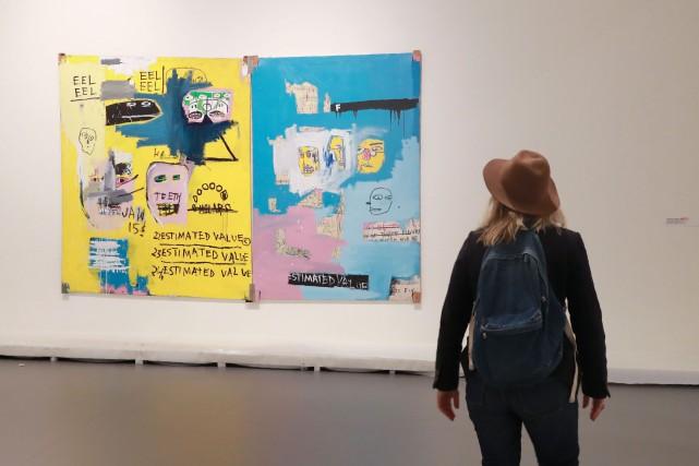 L'oeuvre Hardware Store de Jean-Michel Basquiat... (Photo JACQUES DEMARTHON, AFP)