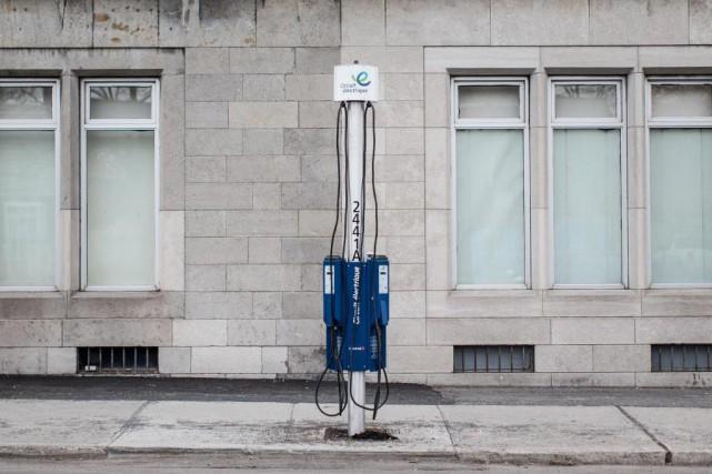 Le réseau de bornes publiques du Circuit électrique,... (Photo Edouard Plante-Fréchette, Archives La Presse)