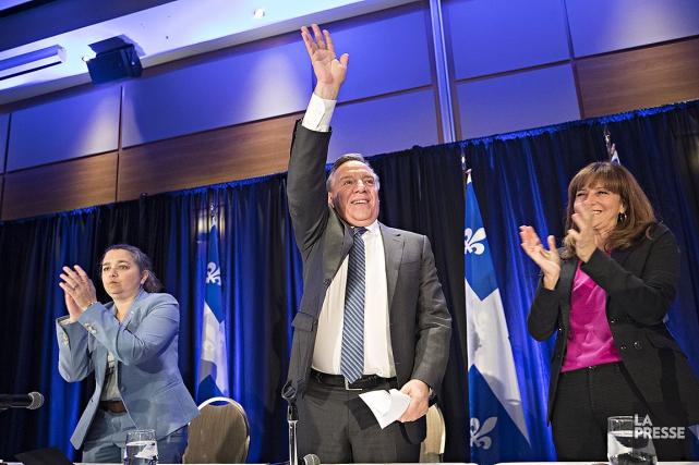 Le premier ministre désigné du Québec, François Legault,... (Patrick Sanfaçon, La Presse)